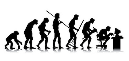 Human evolution ends behind personal computer